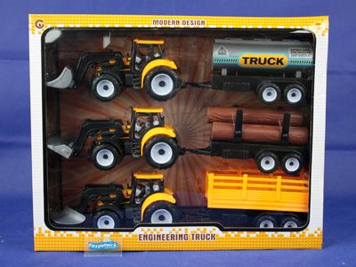 Tractor & Trailer Set Medium 3pc