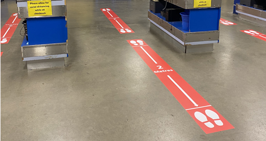 Floor Sticker Distance Marker 2mtr