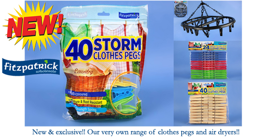 Jumbo Storm Pegs In Bag 40pc